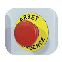 Arrêt d'urgence pour coffret de pilotage pompe