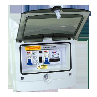 Coffret de protection AC monophasé pour 1 onduleur - de 3kVA à 6kVA - photovoltaique