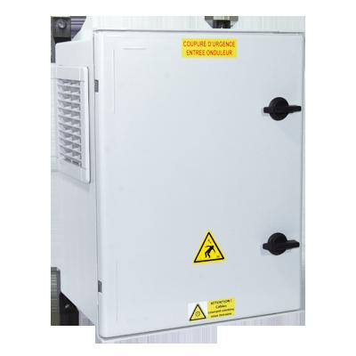 Coffret photovoltaique DC pour 1 à 5 chaines PV et 2 trackers MPPT